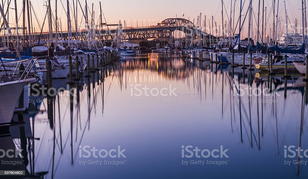 Auckland Harbour. stock photo