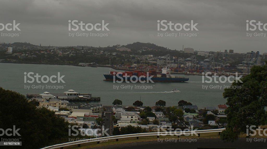 Auckland Harbour stock photo