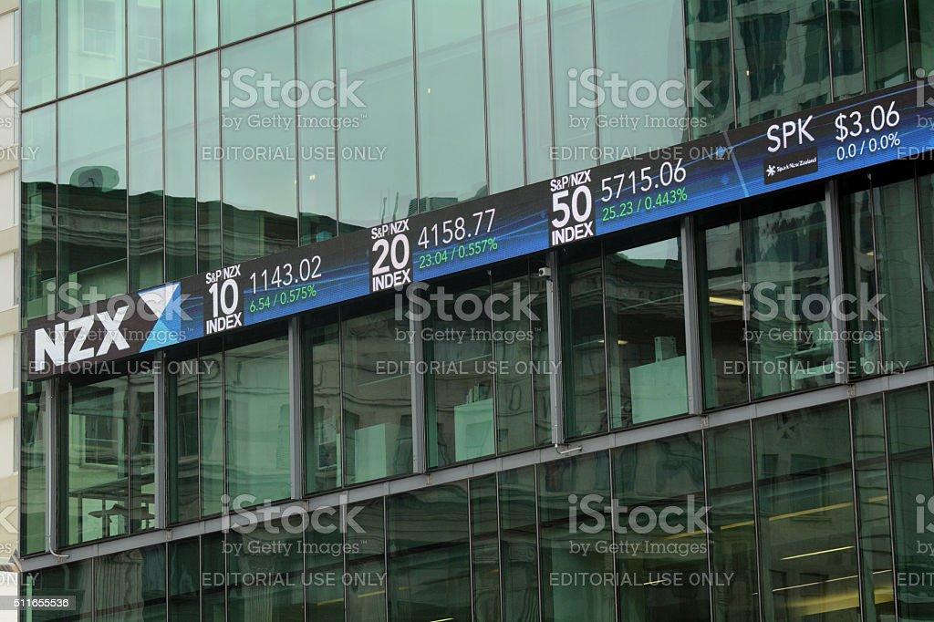 NZX Auckland - New Zealand stock photo
