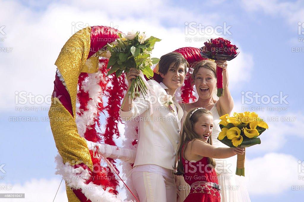 Auckland Pride Parade: Family stock photo