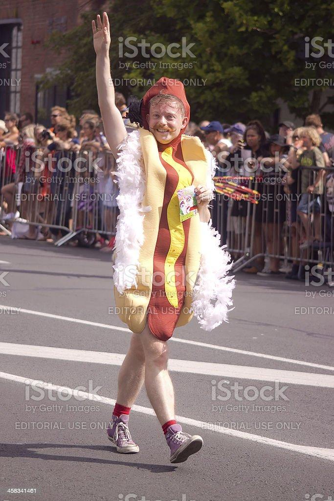 Auckland Pride Parade: Hot Dog Man stock photo