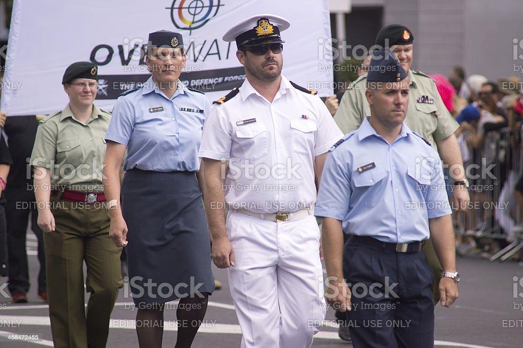 Auckland Pride Parade: OverWatch stock photo