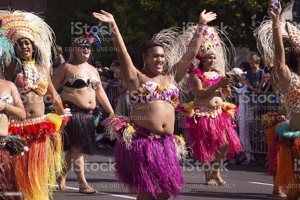 Auckland Pride Parade: Pacific Islanders stock photo