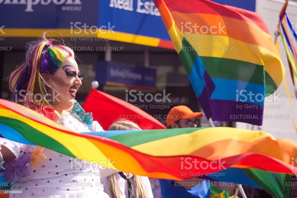 Auckland Pride Parade: Rainbow Girl stock photo