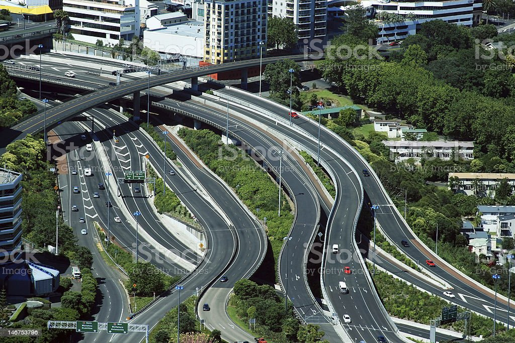 Auckland Road Network royalty-free stock photo