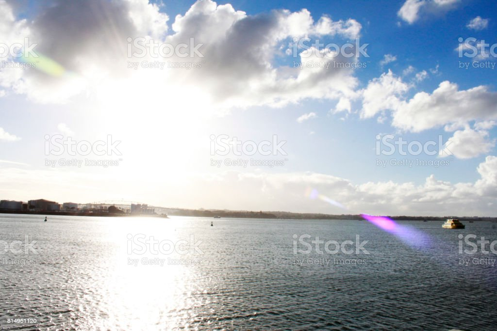 Auckland Seascape stock photo