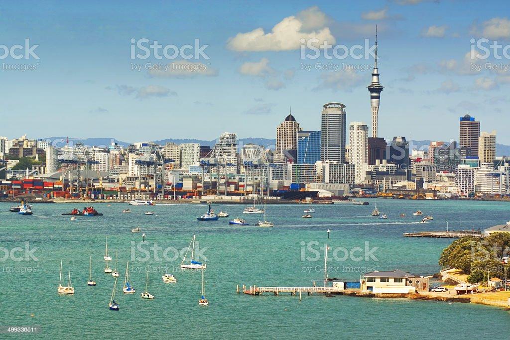 Auckland Skyline - Anniversary Day stock photo