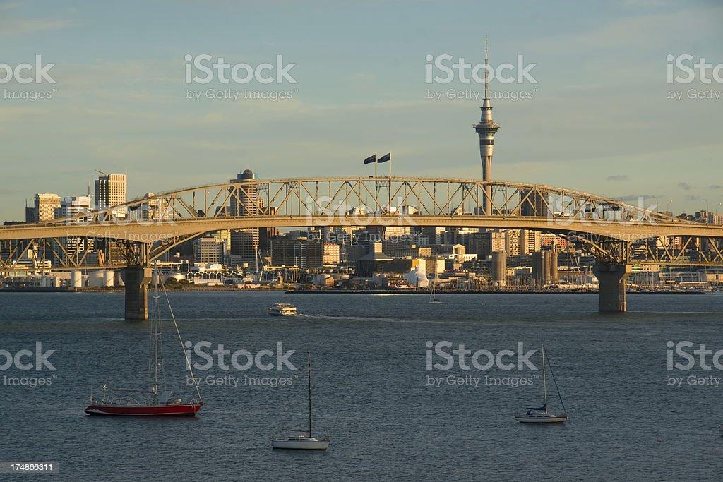 Auckland Skyline - Birkenhead stock photo