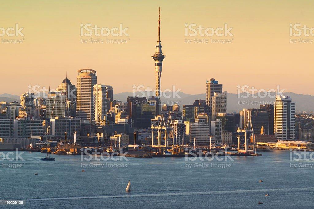 Auckland Skyline - Dawn stock photo