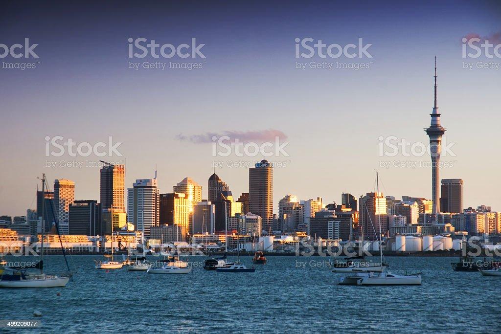 Auckland Skyline - Dusk stock photo