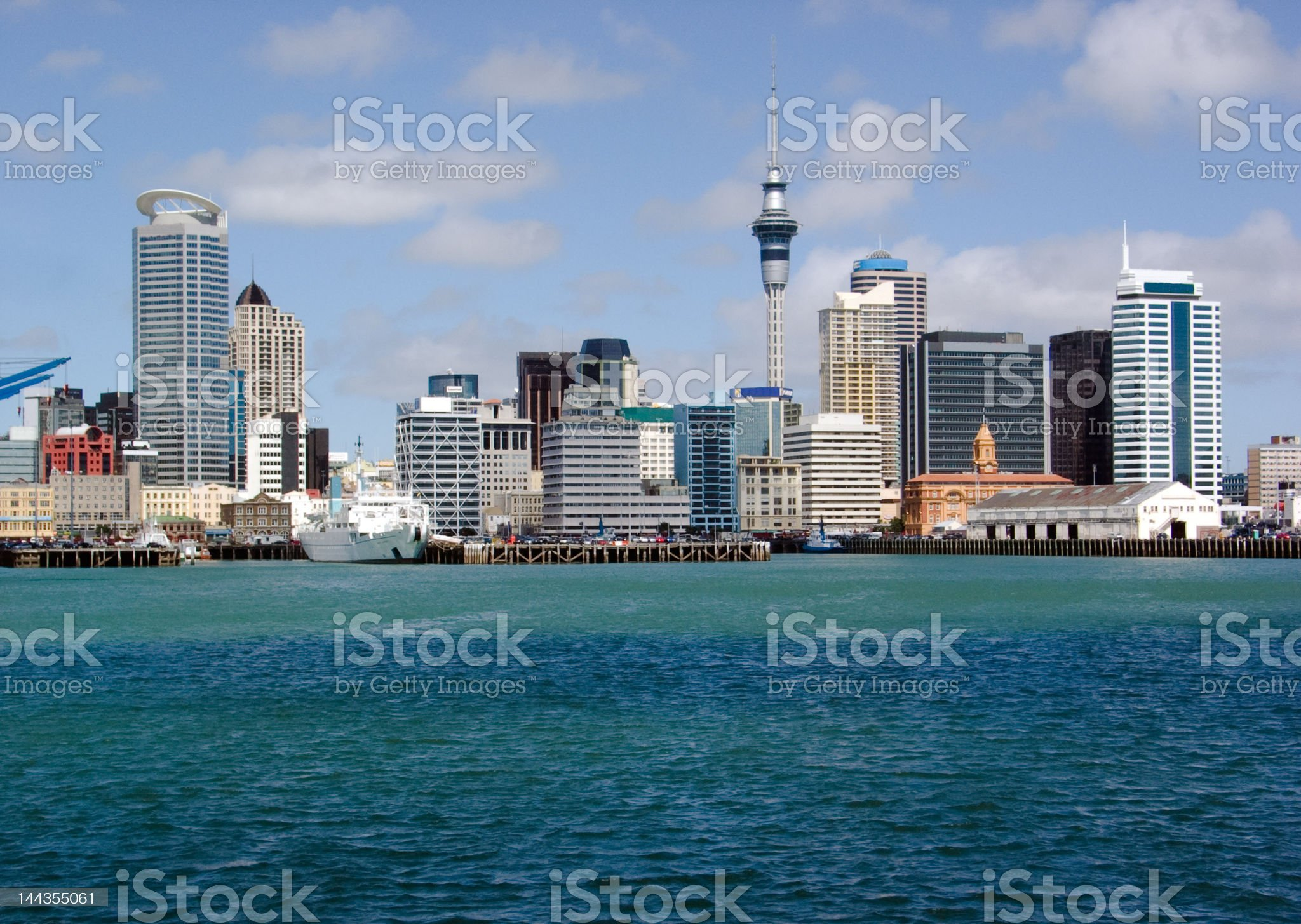 Auckland Skyline royalty-free stock photo