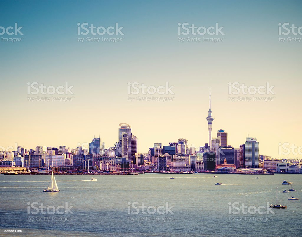 Auckland Summer Skyline stock photo