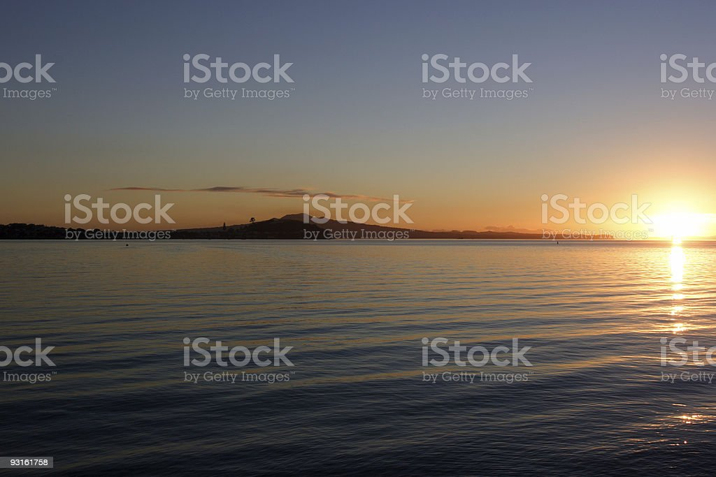 Auckland Sunrise stock photo