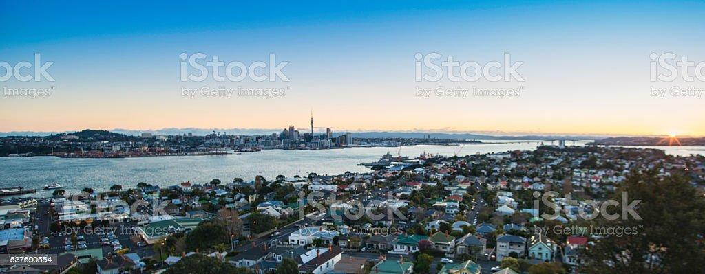 Auckland Sunset stock photo