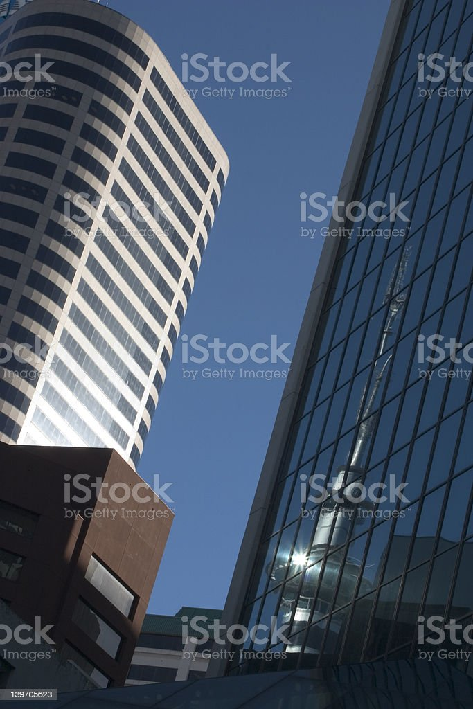 Auckland Tower Reflection royalty-free stock photo