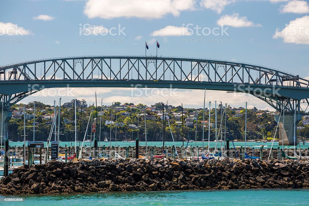 Auckland Westhaven Marina stock photo