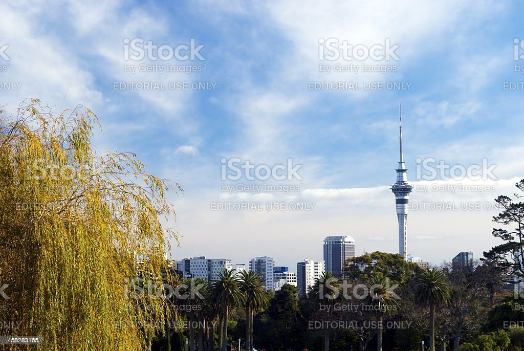 Auckland's Skyline with Sky Tower royalty-free stock photo