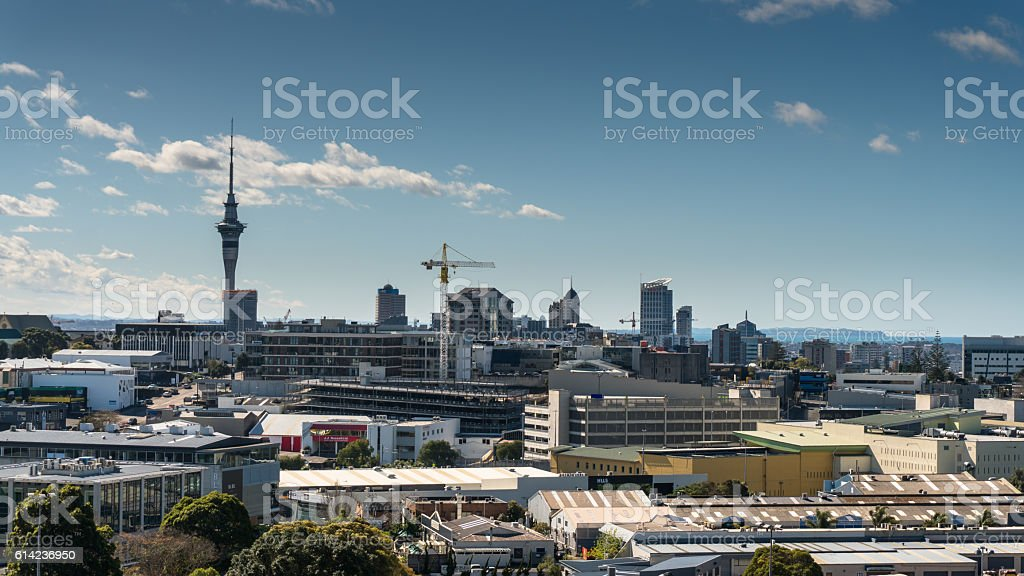Aucland City Centre Skyline stock photo