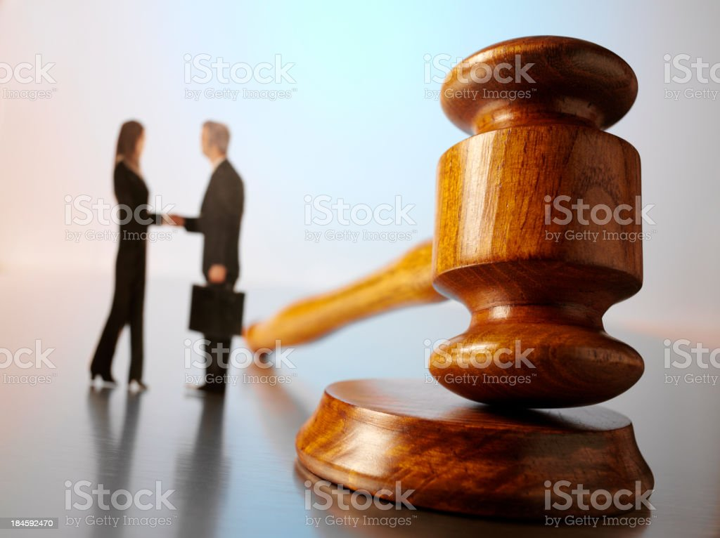 Auction Agreement royalty-free stock photo