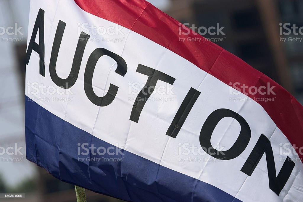 Auction flag stock photo
