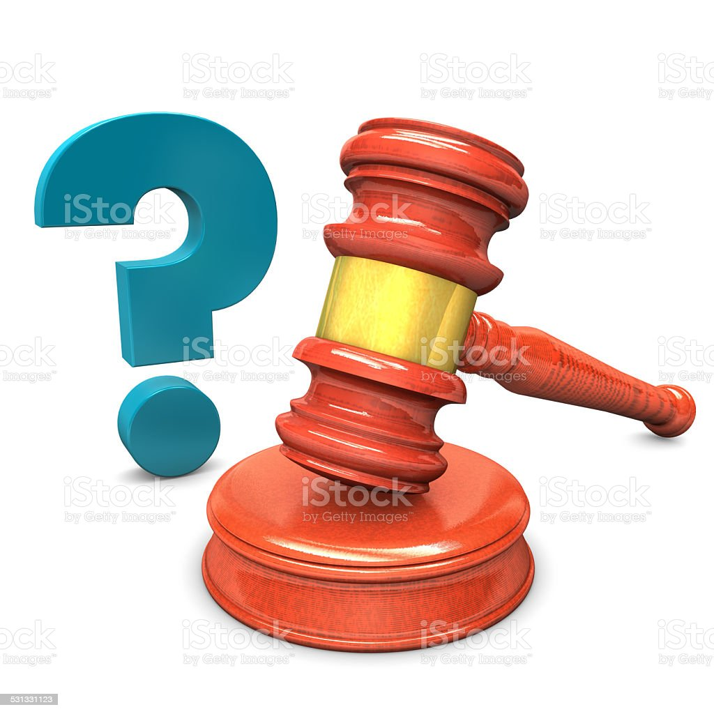 Auction Hammer Question stock photo