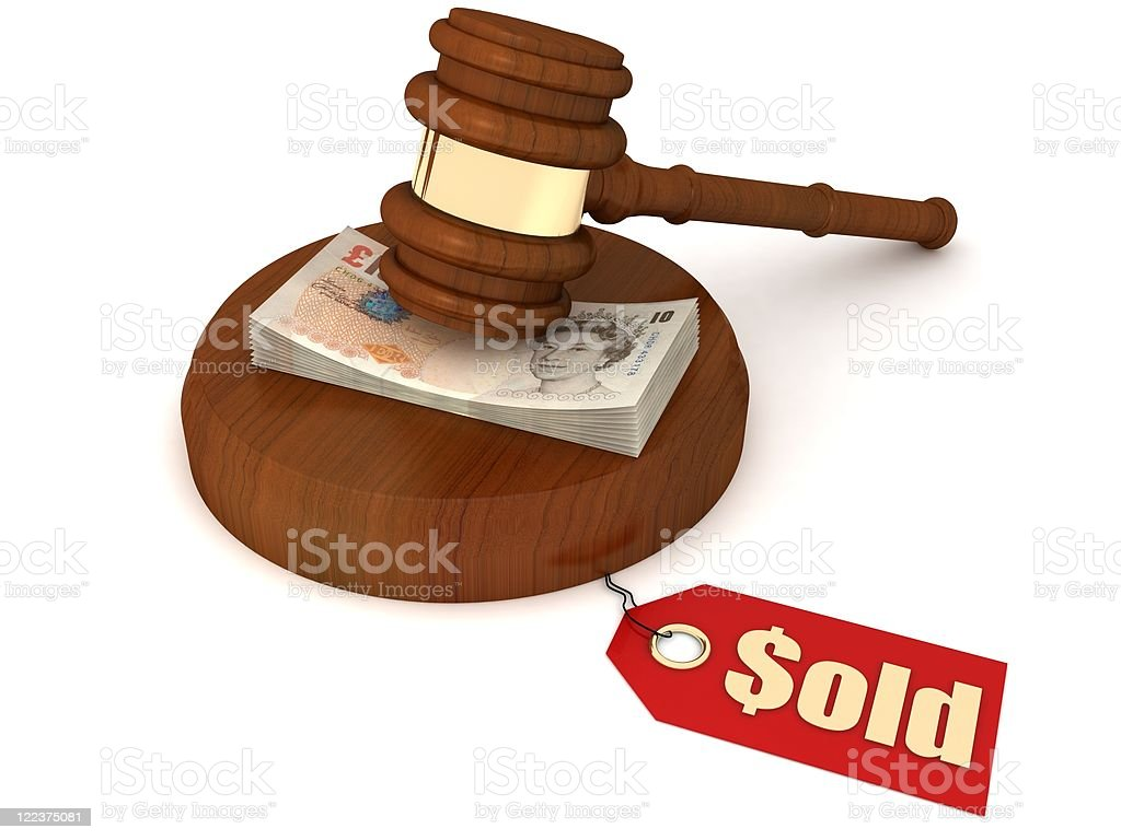 UK Auction royalty-free stock photo
