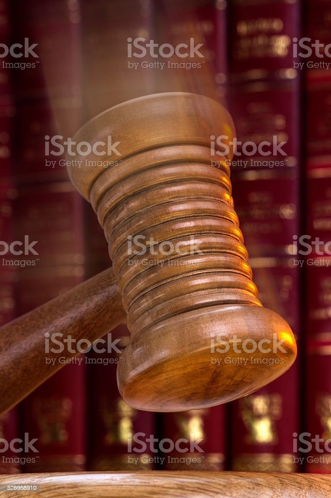 Auctioneer or Judges Gavel - Order stock photo