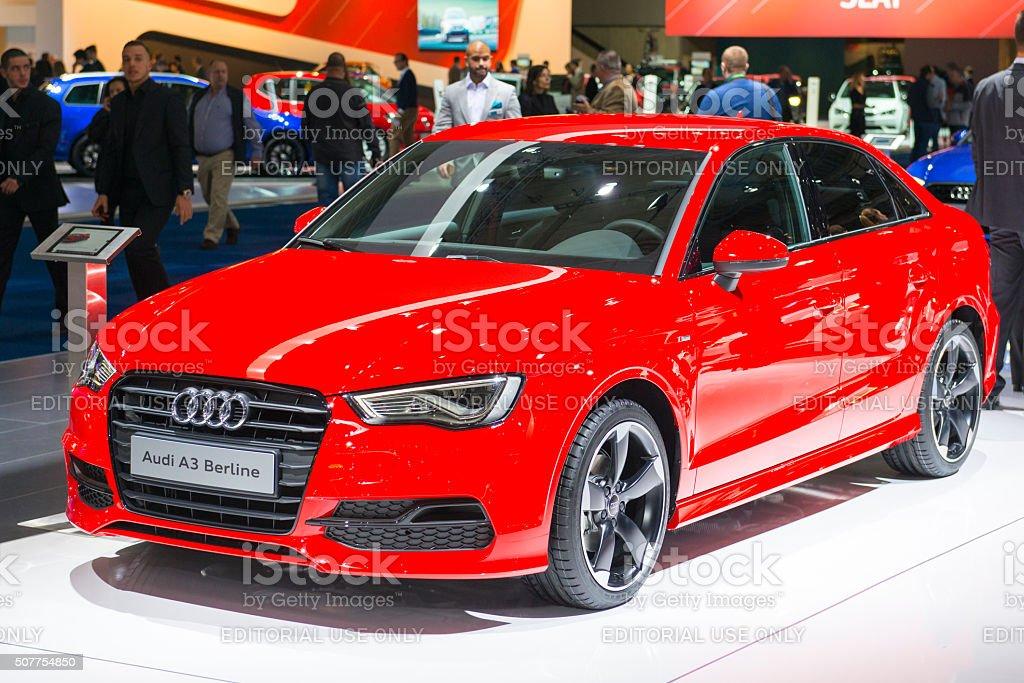 Audi A3 Berline compact saloon car stock photo
