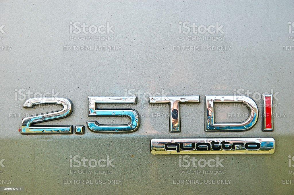 Audi A6 Allroad engine marking stock photo