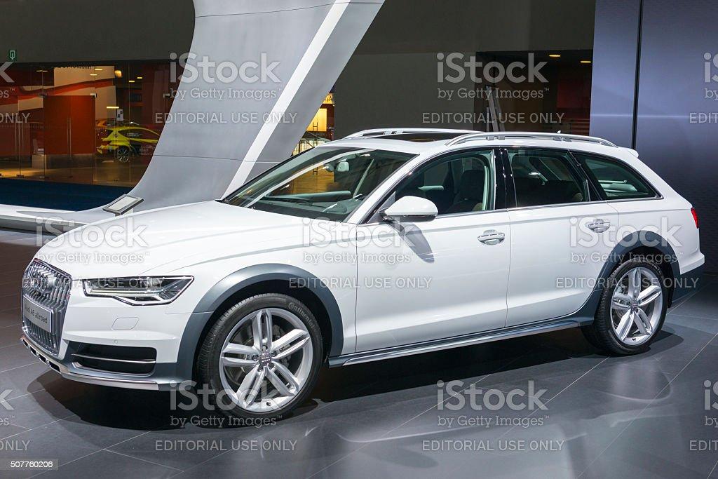 Audi A6 allroad quattro crossover estate car stock photo