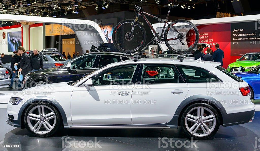 Audi A6 allroad quattro luxury estate car stock photo