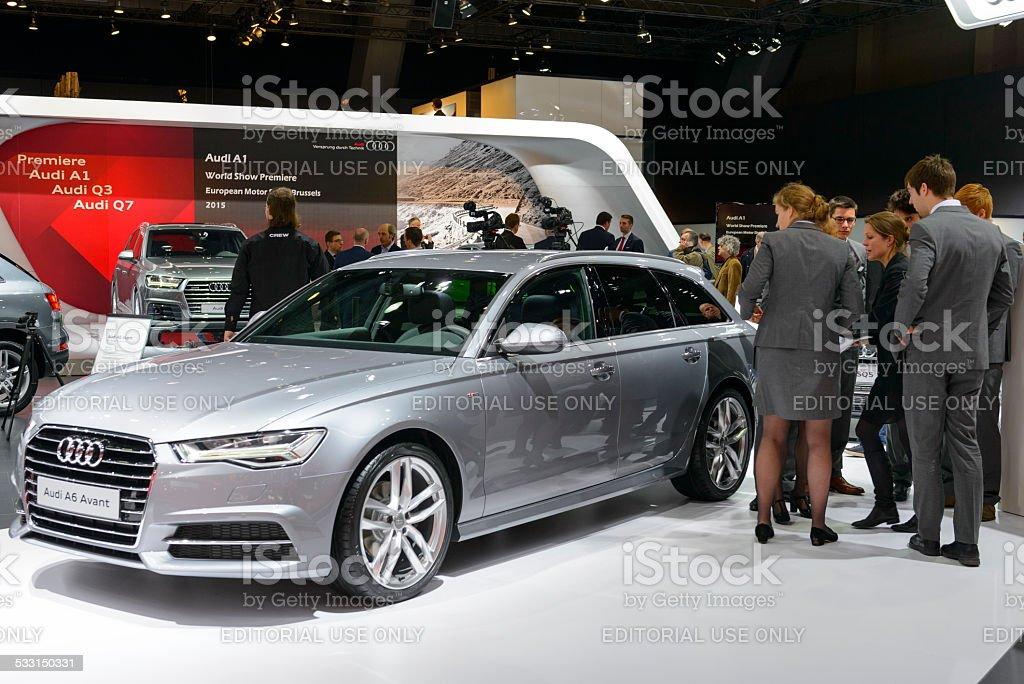 Audi A6 Avant luxury estate car stock photo