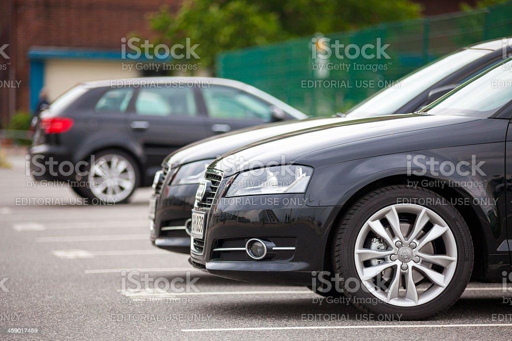 Audi Cars, Hamburg, Germany stock photo