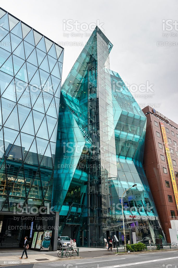 Audi Forum Tokyo, The Iceberg stock photo