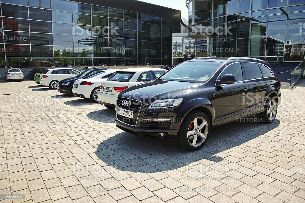 Audi Q7 and other Audi's royalty-free stock photo