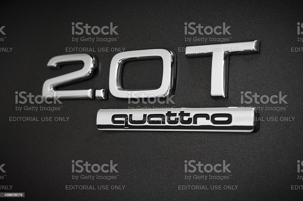 Audi Quattro Badge stock photo