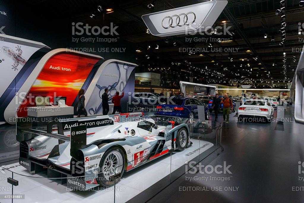 Audi R18 e-tron Qauttro Le Mans race car stock photo