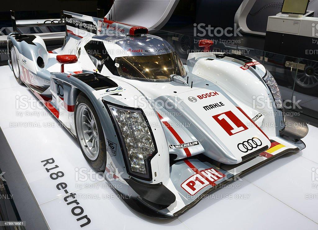 Audi R18 e-tron Qauttro stock photo