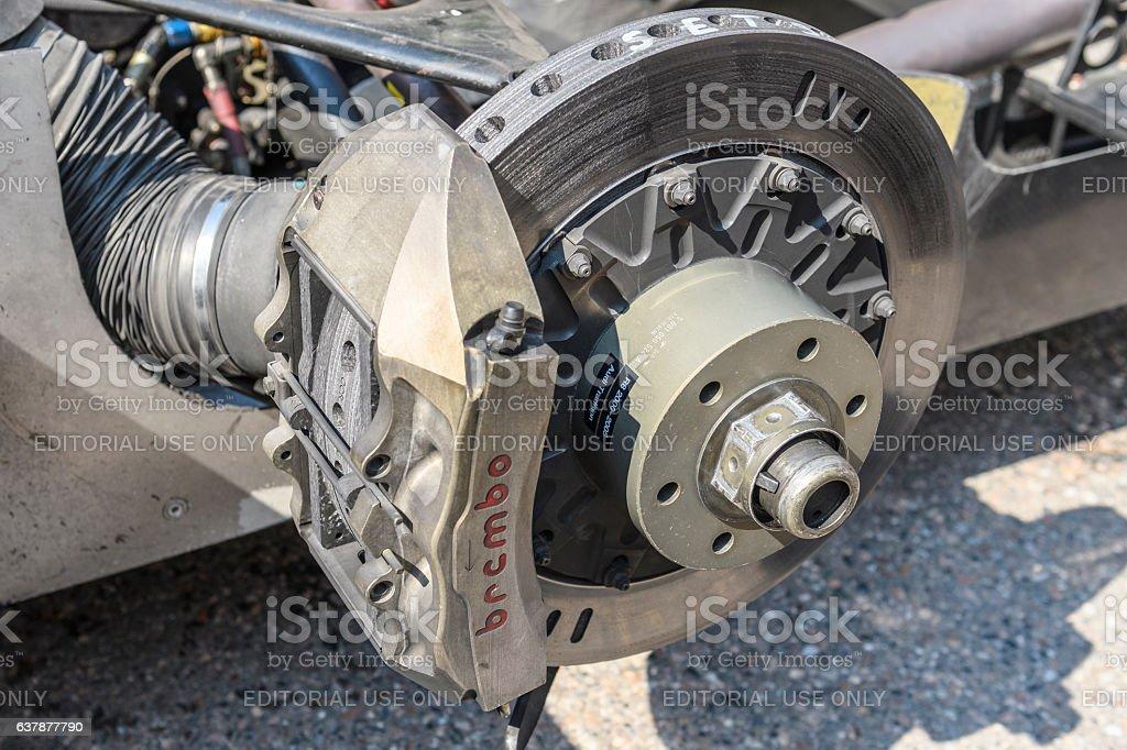 Audi R8 Le Mans Prototype sports-prototype race car brake stock photo
