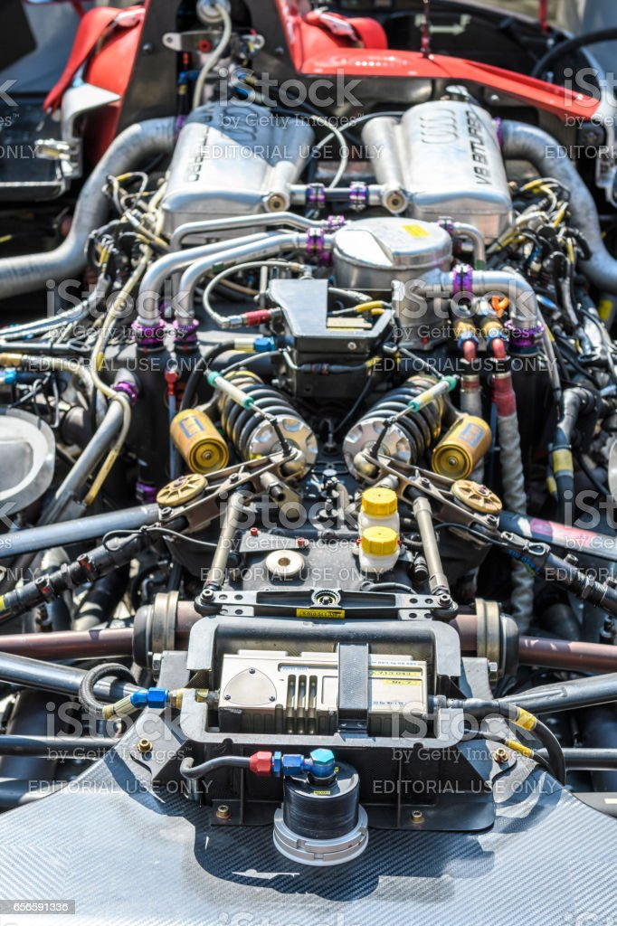 Audi R8 Le Mans Prototype sports-prototype race car engin stock photo