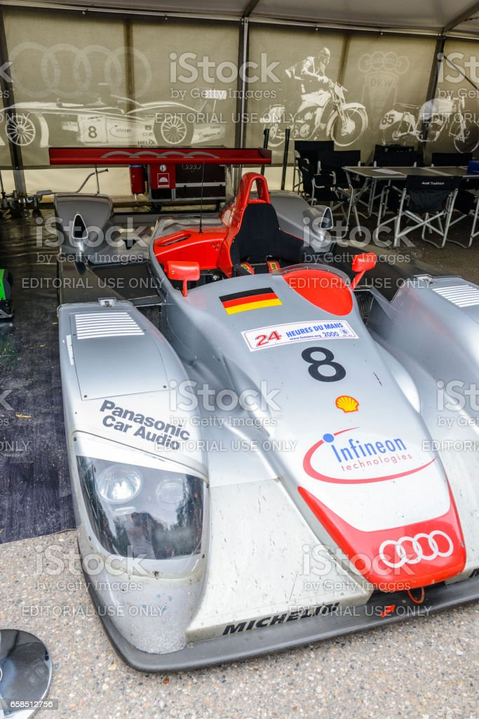 Audi R8 Le Mans Prototype sports-prototype race car stock photo