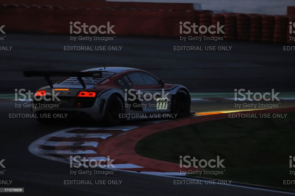 Audi R8 LMS race car at the race track stock photo