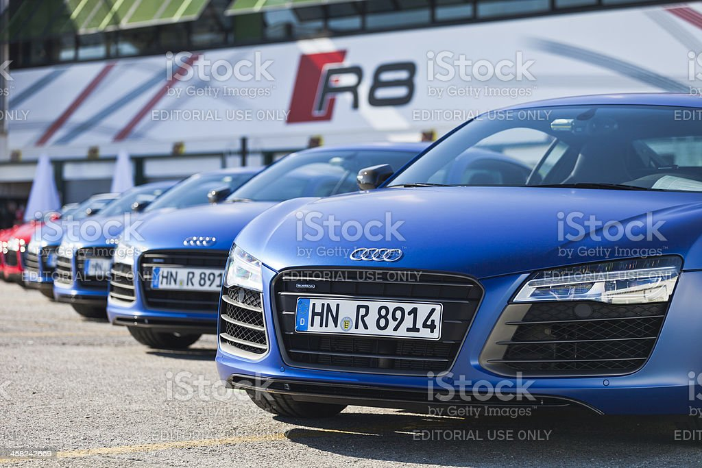 Audi R8's royalty-free stock photo