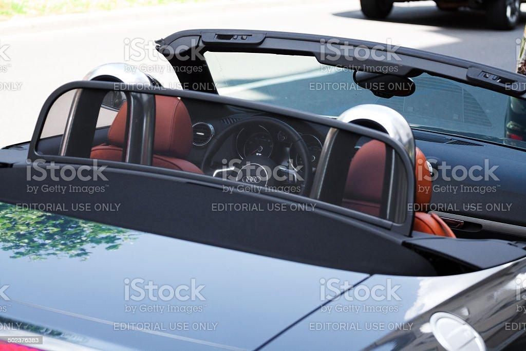 Audi TT convertible car stock photo