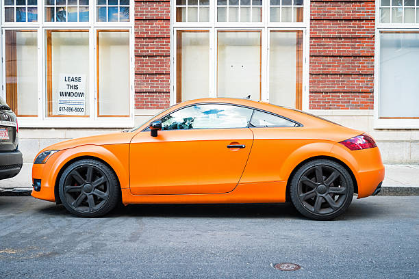 Orange Muscle Car Side View Pictures Images And Stock Photos Istock