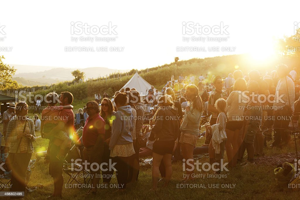 Audience at a live music event royalty-free stock photo