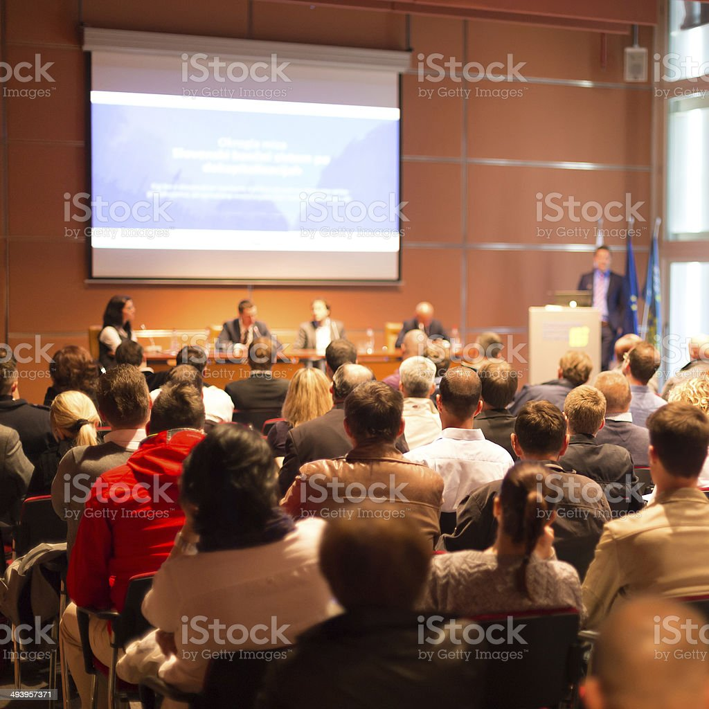 Audience at the conference hall. stock photo