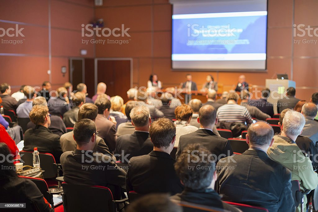 Audience at the conference hall. royalty-free stock photo