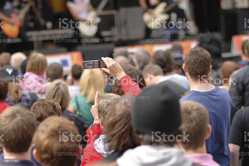 Audience at the Mathew Street Festival in Liverpool royalty-free stock photo