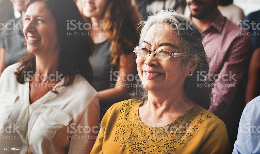 Audience Casual Conference Convention Seminar Concept stock photo